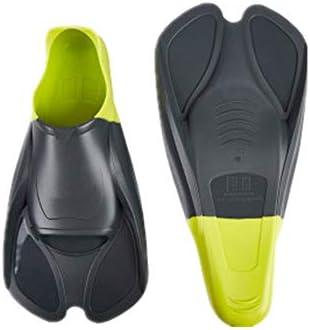 水泳用フィン ウェブ軽量シュノーケリング機器鴨胸びれフィットネススイミング男性と女性シュノーケリング スイミングフリッパー (色 : 緑, Size : 26.5cm)