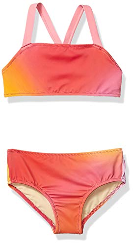 Amazon Essentials Toddler Girl's 2-Piece Bikini Set, Ombre Pink, 3T