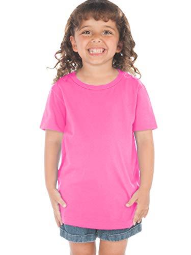 Kavio! Toddlers Crew Neck Short Sleeve Tee (Same TJP0494) Hot Pink 2T ()
