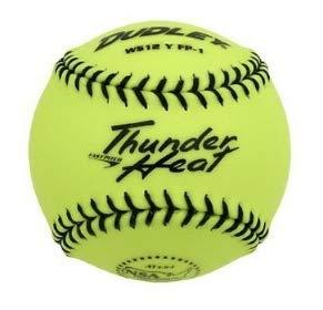 Dudley 4E de 203Y Softball Practice Pelota Thunder Heat - Yellow ...