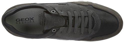 Geox U Emildon B, Zapatillas para Hombre Grau (BLACK/DK GREYC0005)