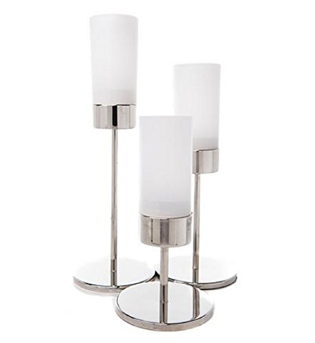 9 Inch Tall Narrow Pedestal Candle Holder with Glass Shade (Sold - Narrow Shades