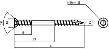 Sechskant Holzschrauben DIN 571 Belko Schl/üsselschrauben Wiener Schraube 8x100 mm verzinkt 100 St/ück