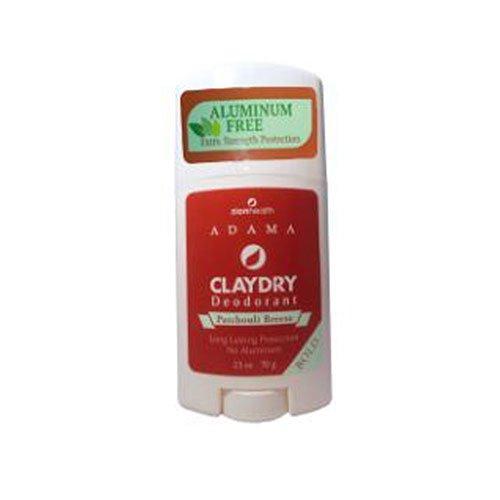 ClayDry Bold Deodorant Patchouli Breeze Zion Health 2.5 oz Stick - Patchouli Deodorant Stick