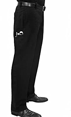 Story One Chef and Bartender Work Pants for Men, Black, Utility Pockets, 5 Sizes