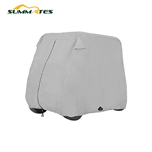 Summates Golf Cart Cover, Fits Yamaha Drive, EZ Go,Club Car Precedent,Color Tan, Gray (Light Gray, Fit 2-Person) (Custom Golf Club Covers)