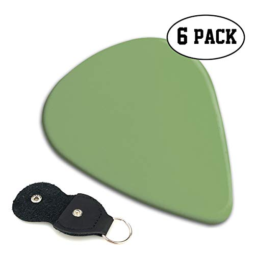 - MOANDJI Asparagus Solid Color Stylish Celluloid Guitar Picks Plectrums Guitar Accessories for Guitar Bass with Pick Holder