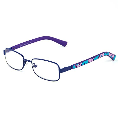 Cyxus Blue Light Blocking Glasses for Kids, Anti Eyestrain Protect Eyesight Computer Eyewear Metal Rectangular Frame - Frames Eyesight Glasses