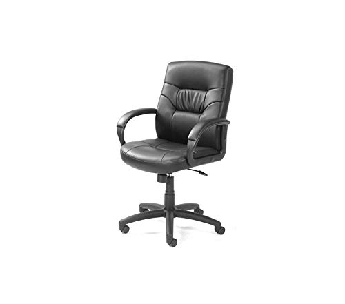 (Office Home Furniture Premium Office Products Executive Mid Back LeatherPlus Chair with Knee Tilt in Black)