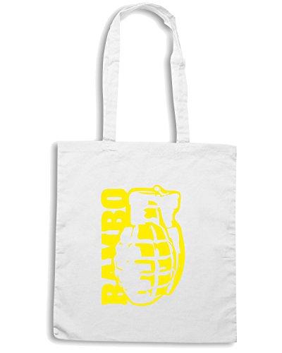 T-Shirtshock - Bolsa para la compra TM0497 rambo Blanco