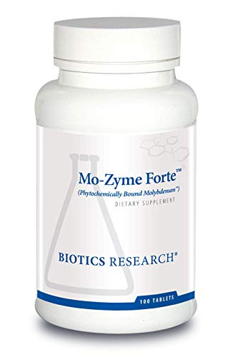Biotics Research Mo-Zyme ForteTM - Molybdenum 150 mcg, Liver Support, Detoxification, Essential Trace Element, Healthy Metabolism, Antioxidant Support 100 Tablets