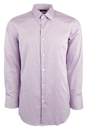 Hugo Boss Men's Regular Fit Cotton Dress Shirt-DP-16-34/35 Dark Pink