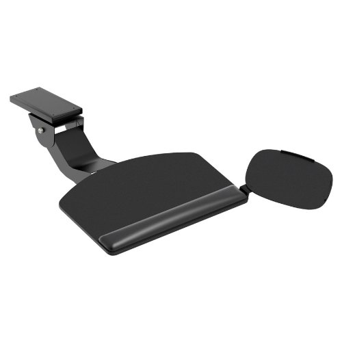 HON Convertible Keyboard with Articulating Arm and Mouse Pad, Black by HON