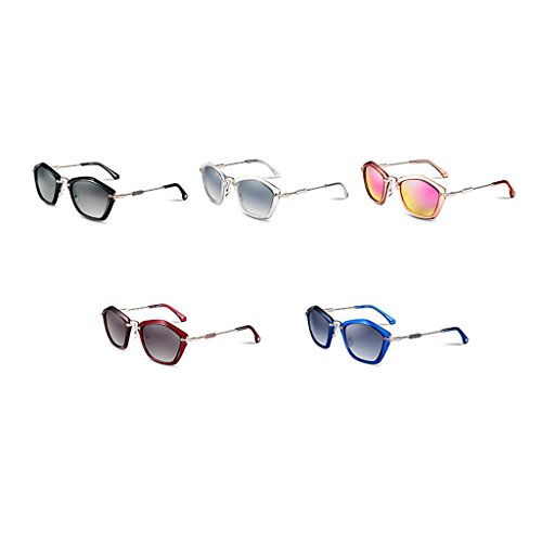 fashion de lunettes de rétro élégant Silver Dame soleil White polarisé SRIwqxHHd
