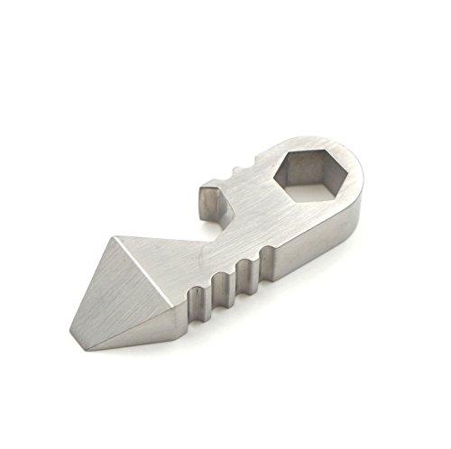 - Titanium GR5 Bottle Opener,Pickpocket Alpha,Keychain Pocket Tool