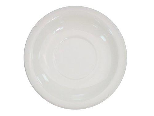 (CAC China NRC-2 Narrow Rim 5-1/2-Inch American White Stoneware Saucer, Box of 36)