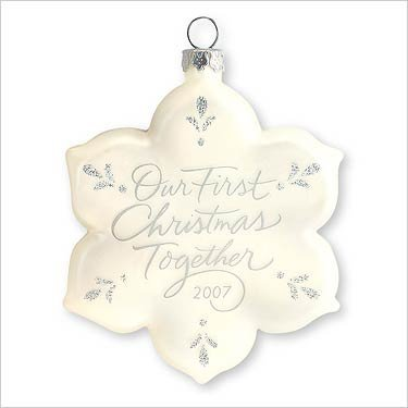 Hallmark Keepsake Ornament - Our First Christmas Together 2007 (2007 Christmas Tree Ornament)