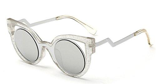 GAMT Fashion Cat Eye Roud Sunglasses Silver - Cheap Holbrook Sunglasses