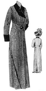 Edwardian Sewing Patterns- Dresses, Skirts, Blouses, Costumes 1912 Gray & White Stripe Spring Coat Pattern $18.25 AT vintagedancer.com