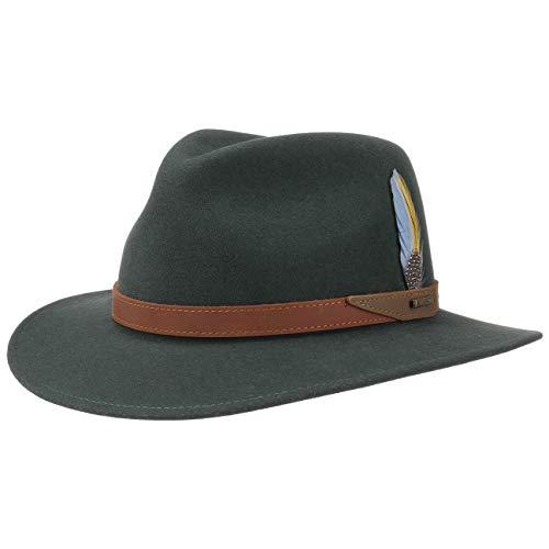 Stetson Hampton VitaFelt Traveller Hat Men Dark Green L (7 1/4-7 3/8)