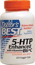 Лучший врача - 5-HTP Enhanced витаминами В6 и С - 120 Вегетарианская капсулы