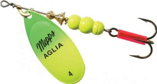 Mepps Aglia Size 4 Hot Green/Chartreuse by Mepp's