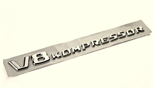 V8 Kompressor Chrom Emblem, Schriftzug selbstklebend AOC