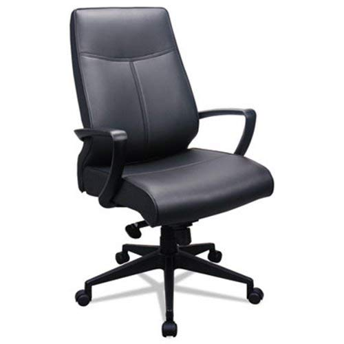 Tempur-Pedic by Raynor TP300 300 Leather High-Back Chair, Black Leather Seat/Back by Tempur-Pedic