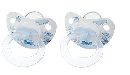 Nuk 710106 - Chupetes de silicona (2 unidades, T 2), color azul