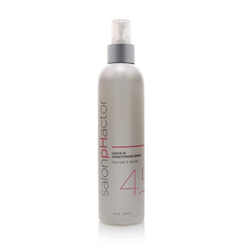 Salon pHactor Leave-in Conditioning, Detangling & Styling Spray 8fl oz. Lightweight Formula is Excellent for All Hair Types, Repairs Damage to Scalp, Promotes Healthy Hair, Prevents Color Fading