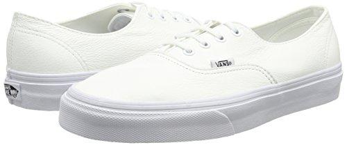 U Unisex Authentic Bajas Vans White true Zapatillas Decon Leather Blanco 1d5wqY