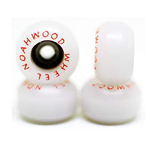 NOAHWOOD Fingerboards PRO Wheels(PRO Bearing 4Pcs/Set) (White, II) (Fingerboard Wheels)