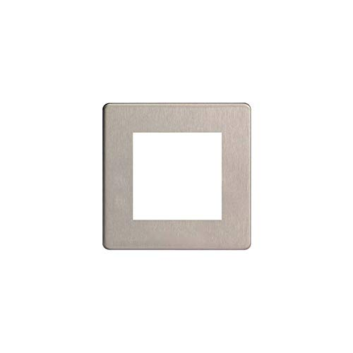 Varilight - Data Grid Face Plate For 2 Data Module Widths Dimension Screwless Matt Chrome - XDSG2S