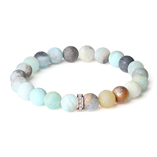 Amazonite Bracelet - OKIKO Bracelet Mens Womens Chakra Handmade Meditation Gemstone Charm Jewelry Popular Gift Friendship