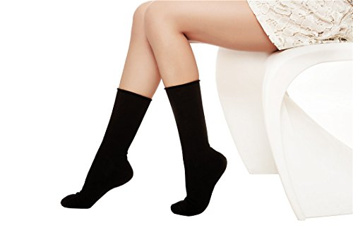 Womens Solid Cotton Winter Ankle