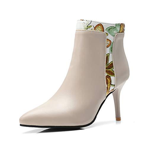 BNXXINGMU Frauen Schuhe Winter Stiefeletten Patchwork Reißverschluss Warme Schuhe Frauen Frau Mode Blaumendruck  High Heels Stiefel 30cf6a