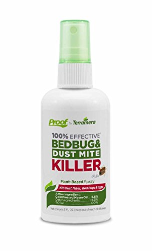 Proof Spray (Proof Bed Bug Travel Spray - Kill 100% of Bed Bugs on Your Luggage after Travel, Treat Your Space after Guests - Plant Based, EPA Registered, 100% Effective)