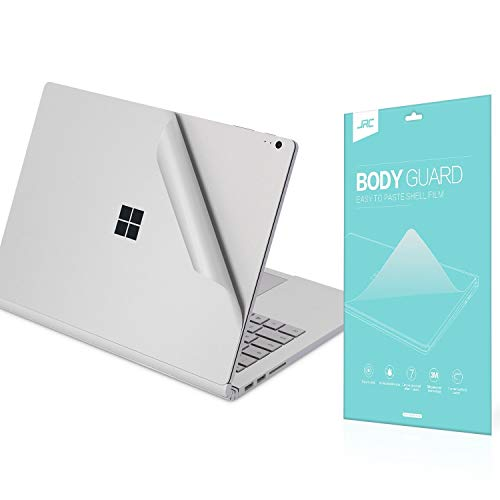 (Premium Full Body Skin Sticker Decals Protector,Decorative Protector for Microsoft Surface Book-Silver)