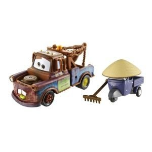 Cars 2 Movie Series 1 Race Team Mater and Exclusive Vehicle Zen Master Pitty 2 pack Die Cast Vehicle (Die Cast Drag Race Cars)