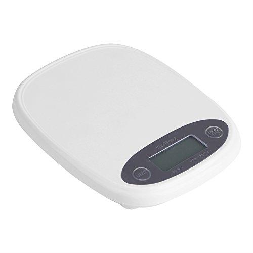 7000g / 1g Báscula de Cocina con Pantalla LCD Mini Escala de Cocina Digital de Alimentos Balanza con Función Calibrar