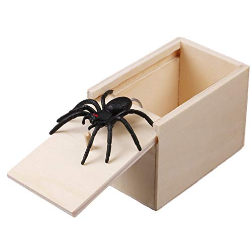 Goodqueen Hilarious Scary Box Spider Prank Wooden Scarybox Joke Gag Toy No Word Magic Show Time]()