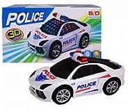Carrinho 3d Police Com Luz Som Movimento viatura a pilhas