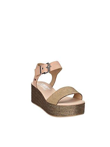 En0en00221 forme Sportif 403 Sandales Nude Denim Plate Femmes Hilfiger Pour Chaussures Tommy 1qpTxw0tW