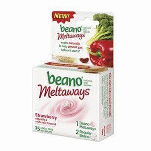 Beano Meltaways Strawberry 15 Single Dose Meltaways (Pack of 4) by Beano