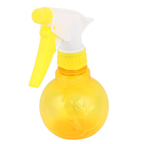 uxcell-Plastic-Bamboo-Pattern-Trigger-Spray-Bottle-200ml-Capacity-Yellow