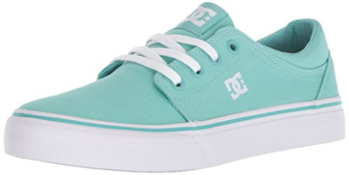 (DC Girls' Trase TX Skate Shoe, Pool Blue, 11 M US Little Kid)