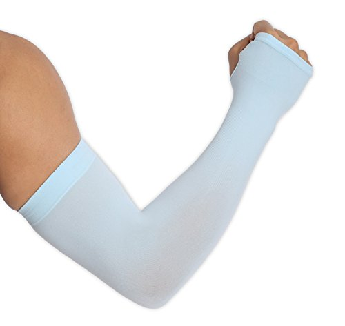 UV Protection Cooling Arm Sleeves – UPF 50 Sun Sleeves with Hand Cover for Men & Women. Perfect for Cycling, Driving, Basketball, Football & Outdoor Activities. Performance Stretch & Moisture Wicking