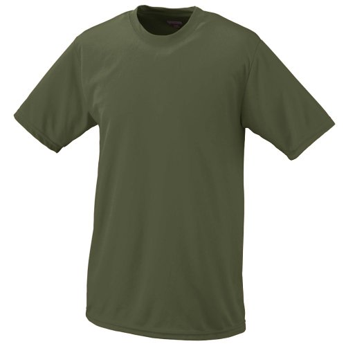 (Style 791 Youth Wicking T-Shirt (small, olive drab green) )