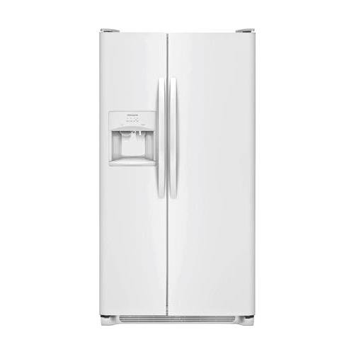 Frigidaire FFSS2315TP 33 Inch Freestanding Side by Side Refrigerator with 22.1 cu. ft. Capacity, in Pearl