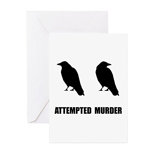- CafePress - Attempted Murder Of Crows - Greeting Card, Note Card, Birthday Card, Blank Inside Glossy
